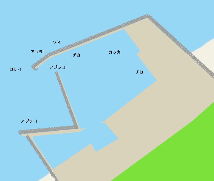 蛯谷漁港ポイント図