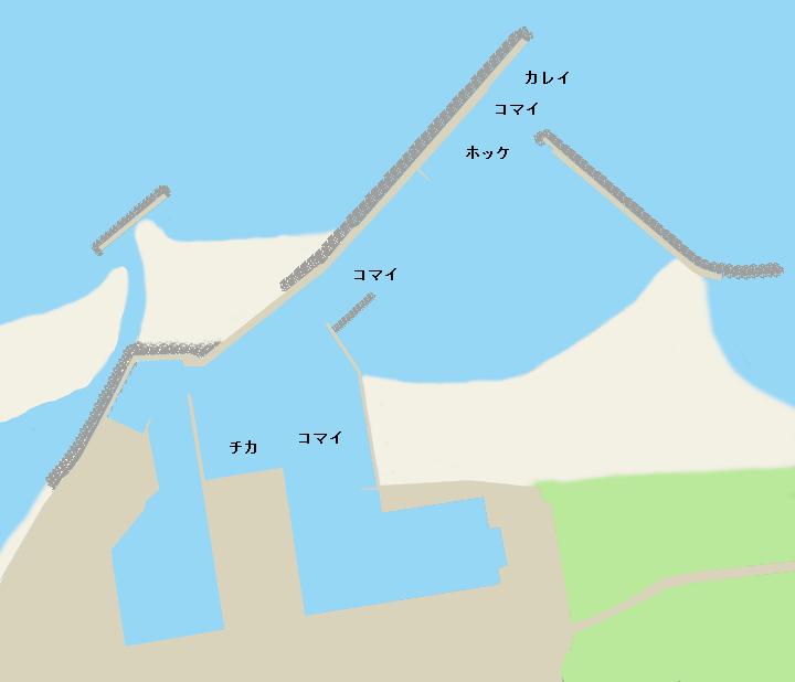 遠別漁港ポイント図