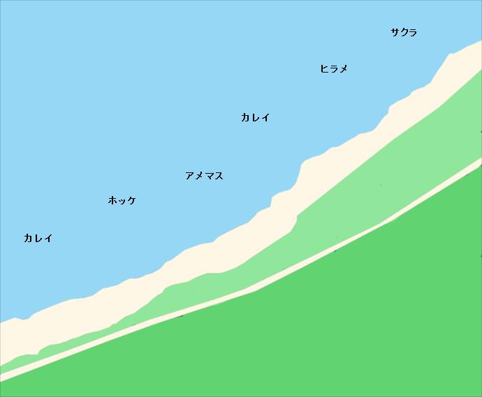 江ノ島海岸ポイント図