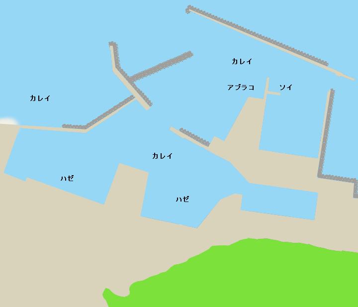 福島漁港ポイント図