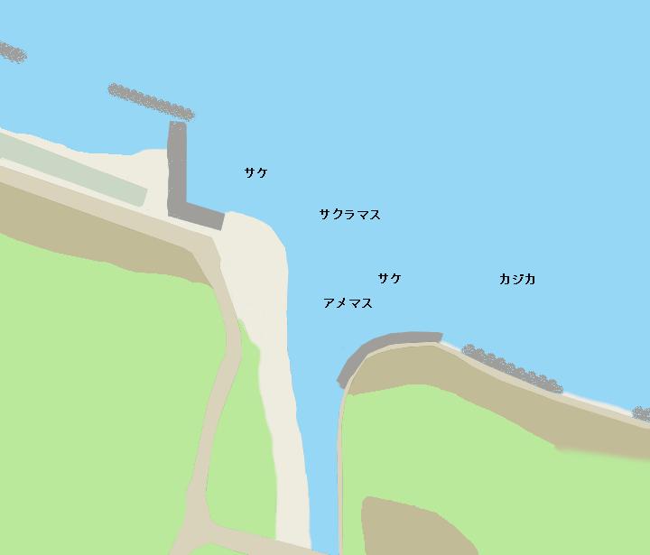 風連別川河口ポイント図