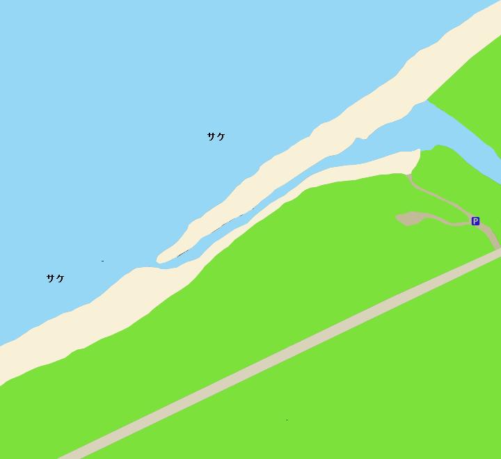 フーレップ川河口ポイント図