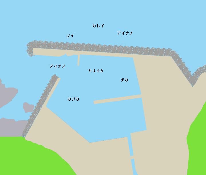 古部漁港ポイント図