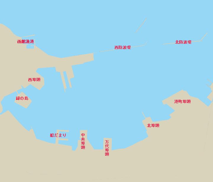 函館港全体図