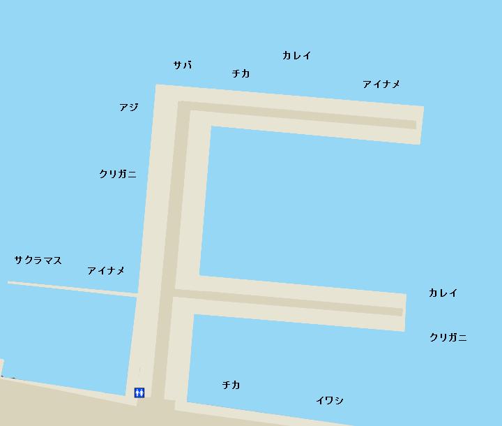 函館港海岸町船溜まりポイント図