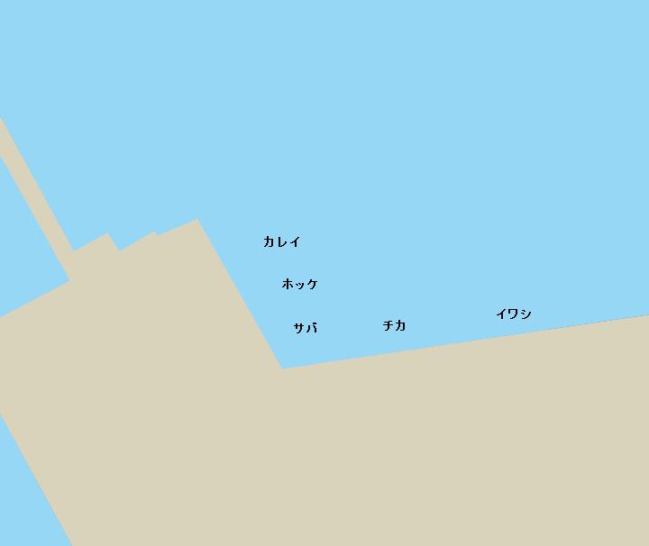 函館港北埠頭ポイント図