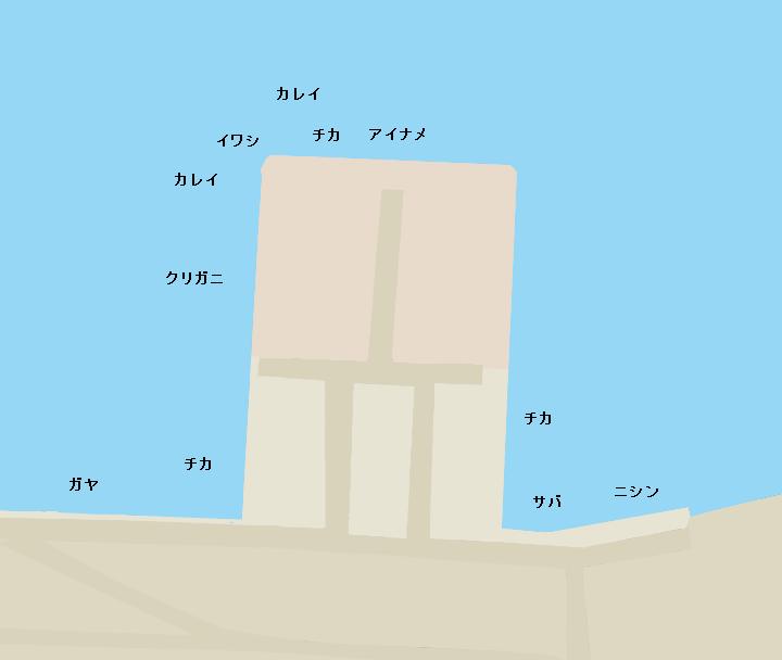 函館港万代埠頭ポイント図