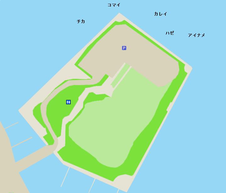 函館港緑の島ポイント図