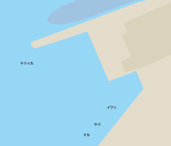 函館港豊川埠頭ポイント図