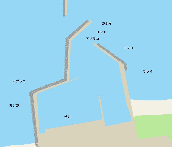 東静内漁港ポイント図