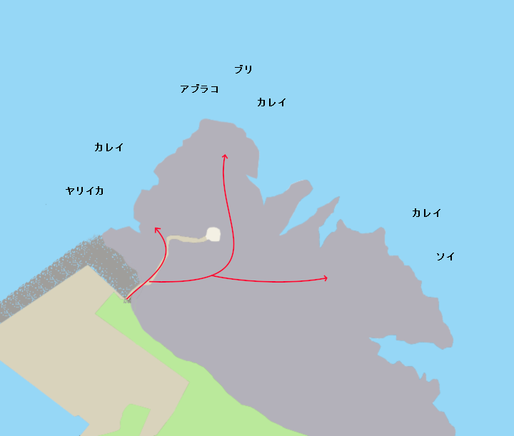 日浦岬ポイント図