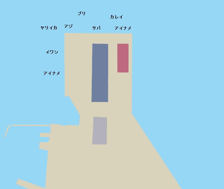 函館港中央埠頭ポイント図
