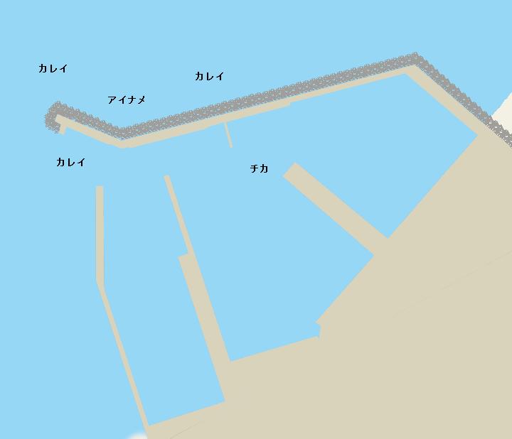 本別漁港ポイント図