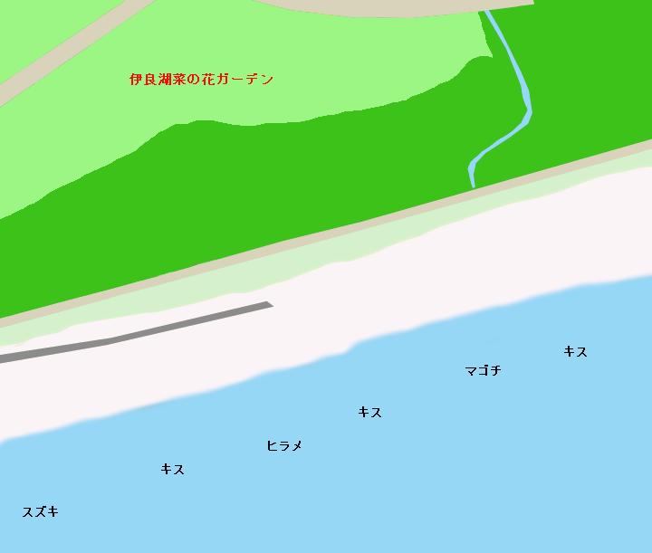 堀切町海岸ポイント図