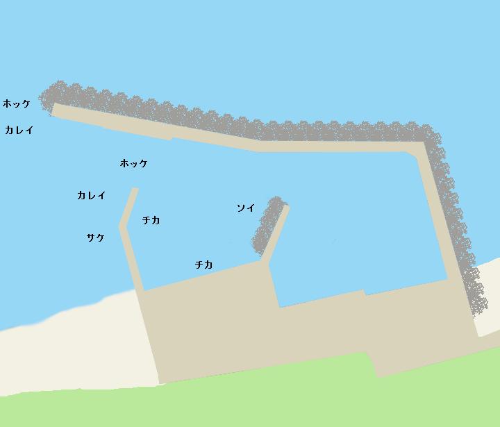 幌漁港ポイント図