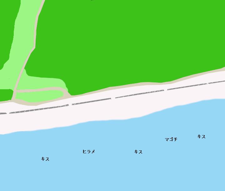 細谷海岸ポイント図