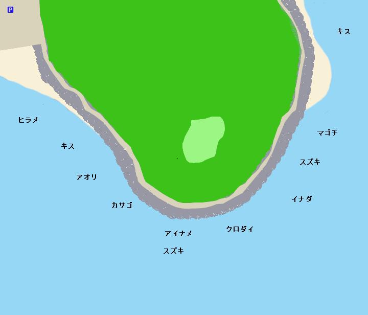 伊良湖岬ポイント図(田原市)