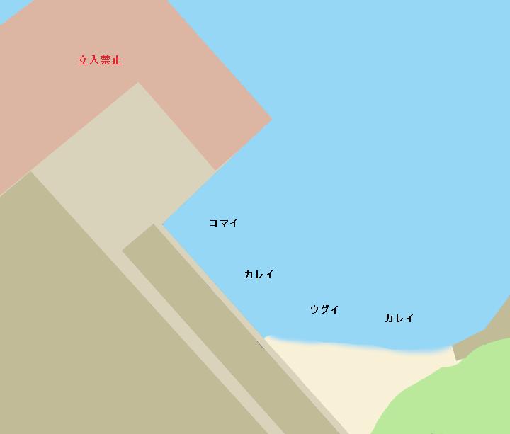 石狩湾新港チップヤードポイント図