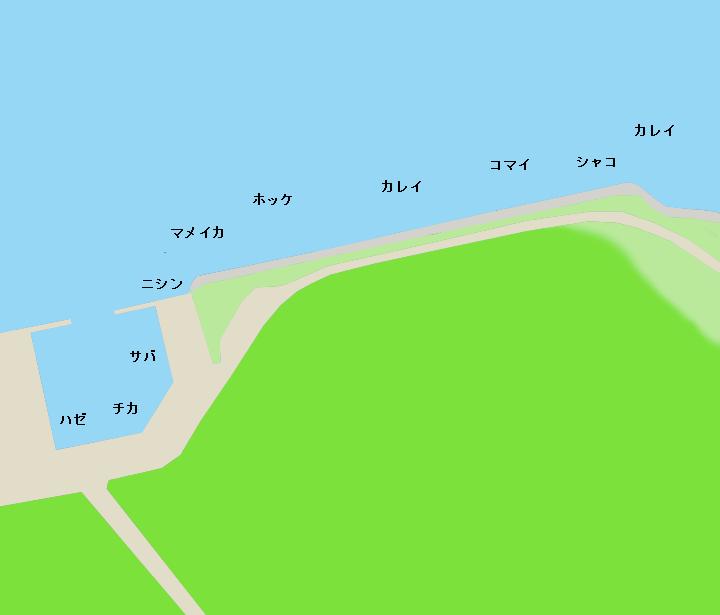 石狩湾新港花畔埠頭ポイント図
