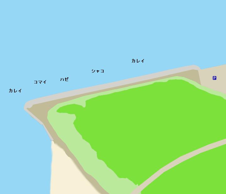 石狩湾新港樽川埠頭ポイント図