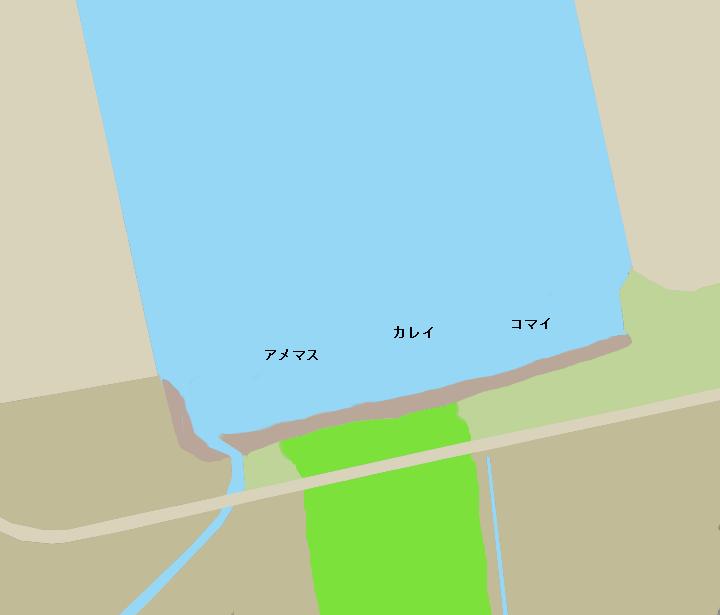 石狩湾新港樽川河口ポイント図
