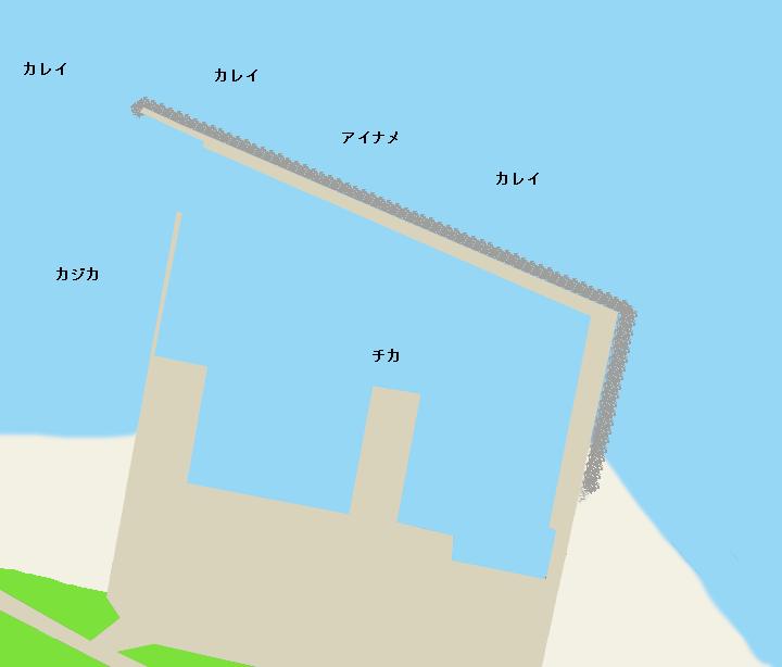 石倉漁港ポイント図