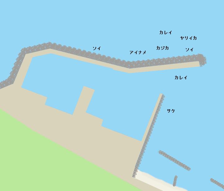 石崎漁港ポイント図