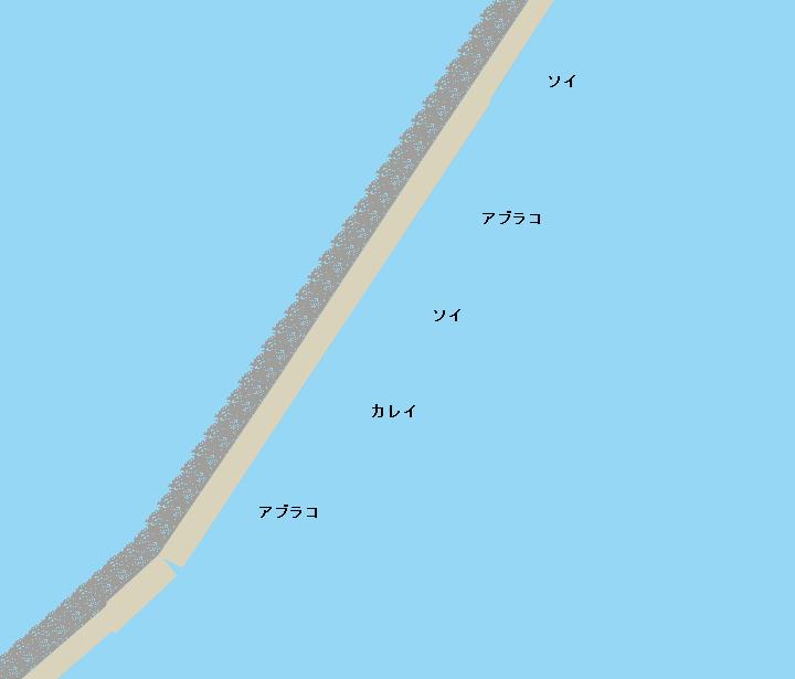 石狩湾新港沖堤防(北防波堤)