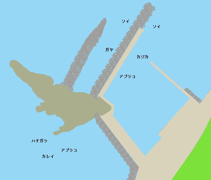 岩老漁港ポイント図