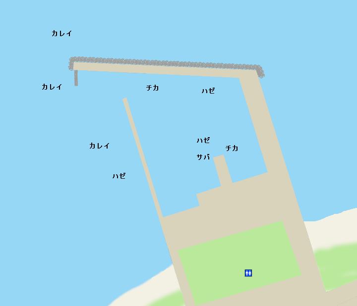 上磯漁港ポイント図