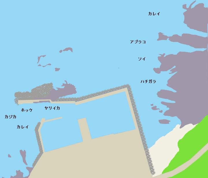 軽臼漁港ポイント図