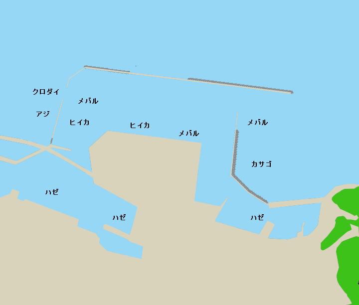 形原漁港ポイント図