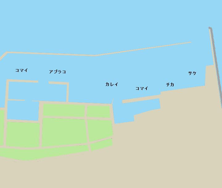 霧多布港ポイント図