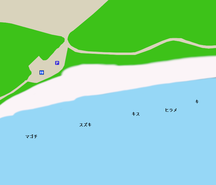 恋路ヶ浜ポイント図