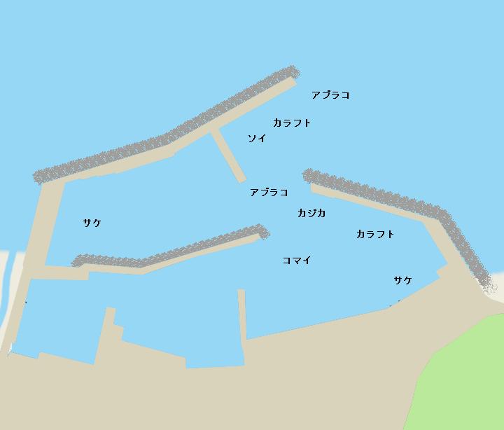 昆布森漁港ポイント図