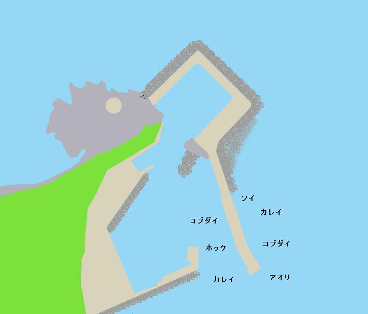 松前小島小島漁港ポイント図