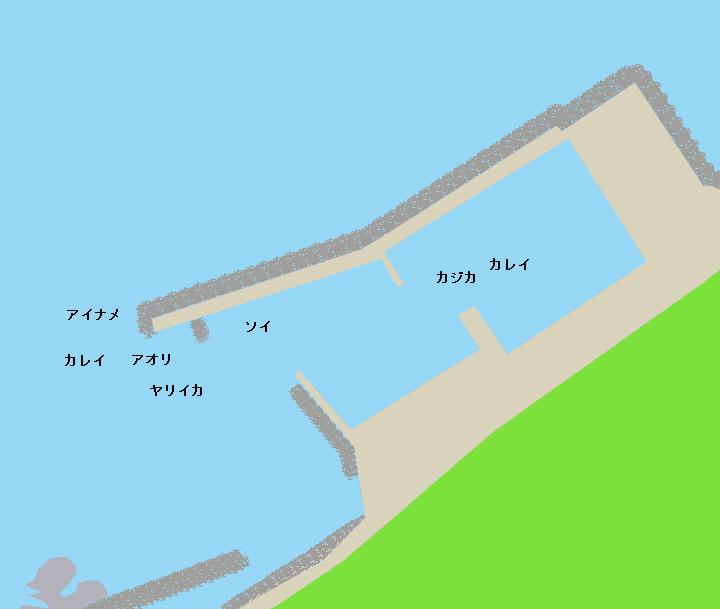 小谷石漁港ポイント図