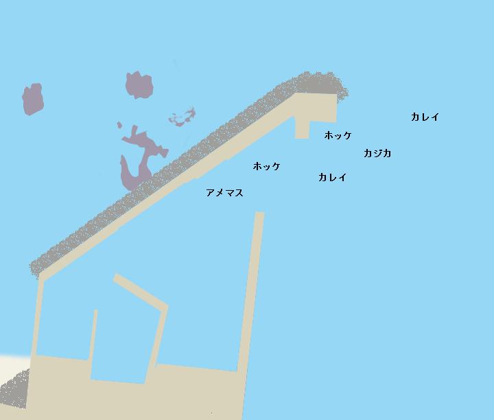 神岬漁港ポイント図