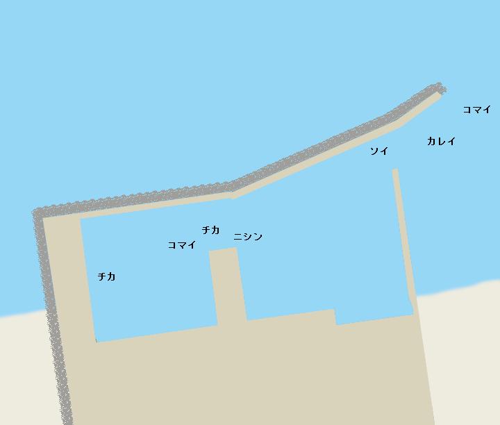 薫別漁港ポイント図