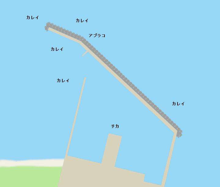 黒岩漁港ポイント図