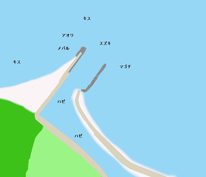 馬草港ポイント図