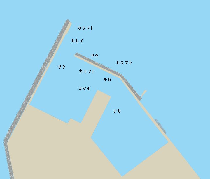 鱒浦漁港ポイント図