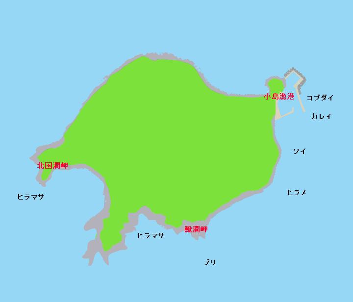 松前小島(渡島小島)ポイント図