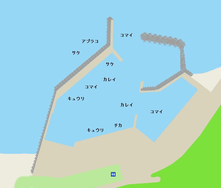 目黒漁港ポイント図