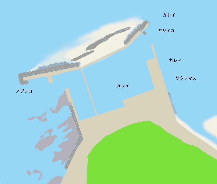 女那川漁港ポイント図