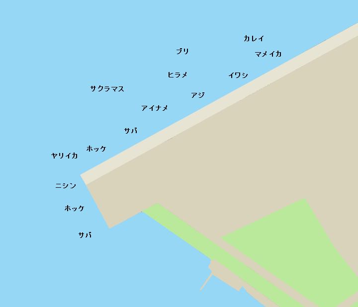 函館港港町埠頭ポイント図