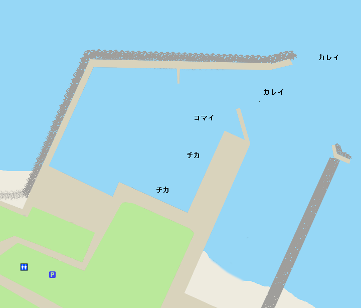 峯浜漁港ポイント図