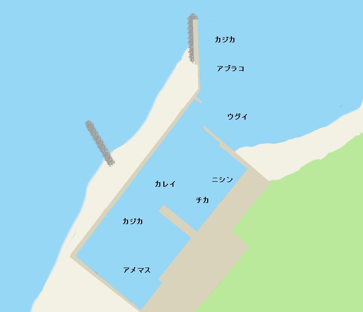 鵡川漁港ポイント図
