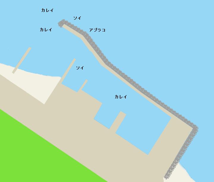 中の川漁港ポイント図