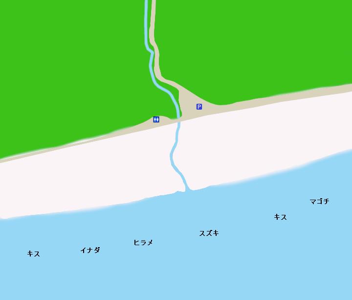 七根海岸ポイント図